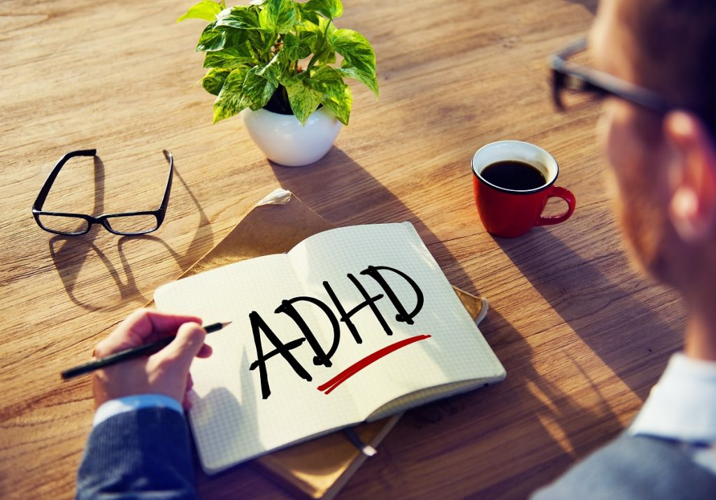 Hypnosis for ADHD - adult with coffee